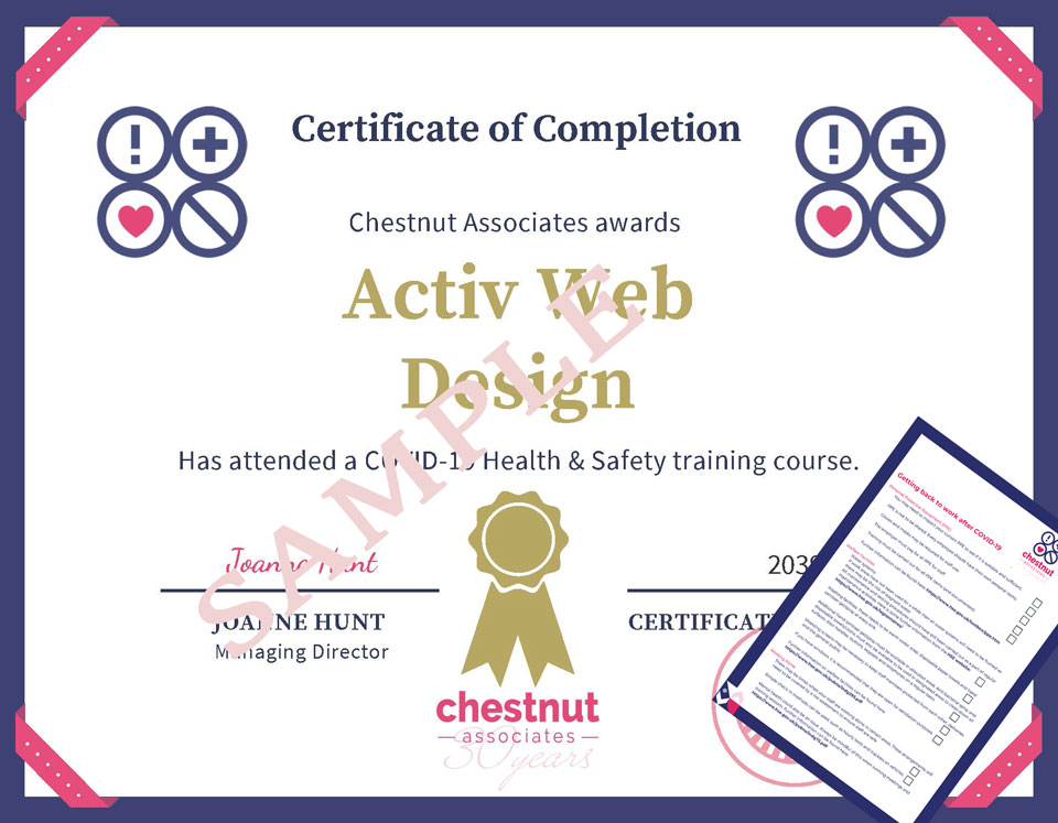 Covid Certificate Example